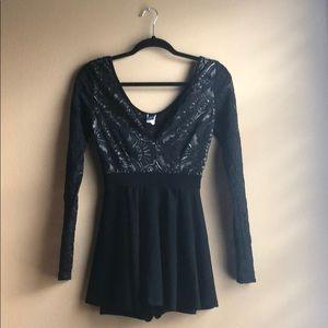 Party/ Event Black Romper/Skirt Dress from Windsor